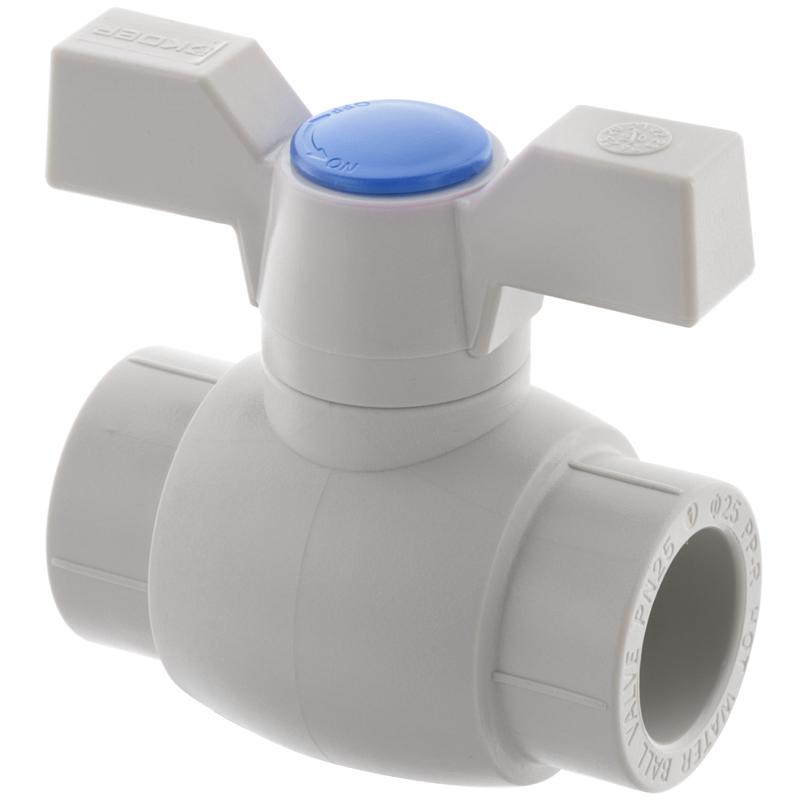 Кран шаровый PPR КШ KOER (бабочка) для горячей воды 25 (KOER K0182.PRO) (KP0235)