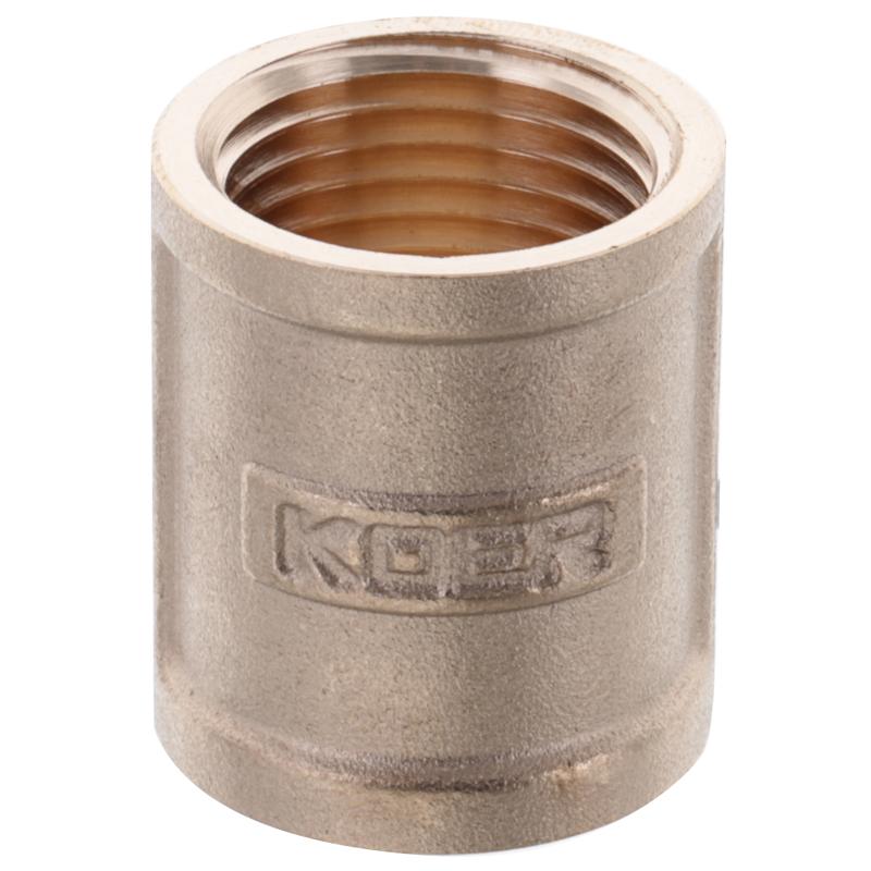 Муфта KOER KF.C06.WN - 1/2'' (Без никеля) (KR3025)