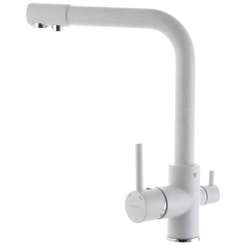 Смеситель для кухни ZERIX LR4055W-3 с выходом для питьевой воды (ZX2643)
