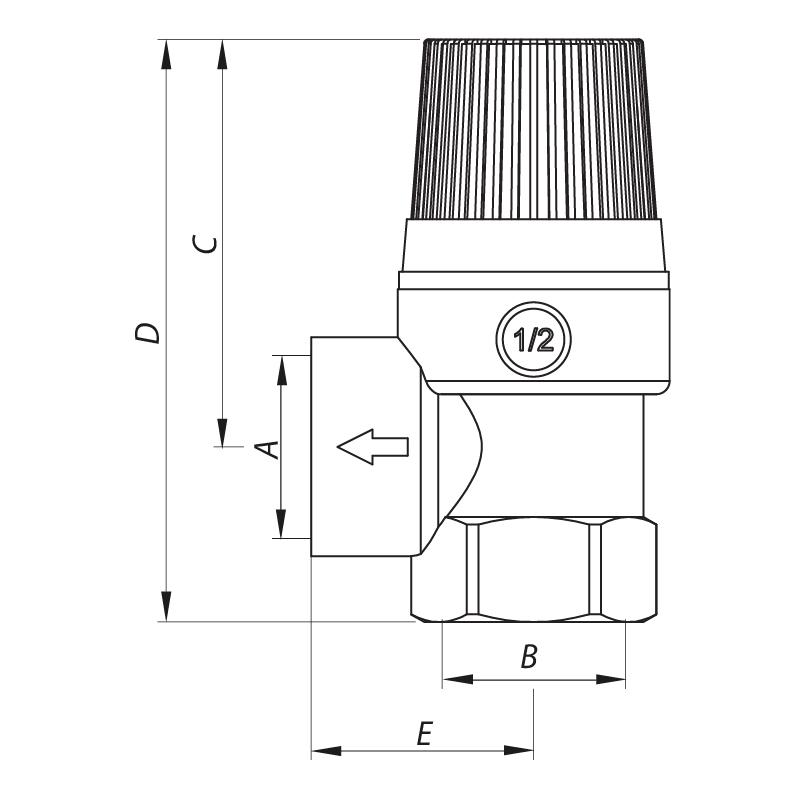 Запобіжний клапан 3BAR KOER KR.1260 (KR2680)