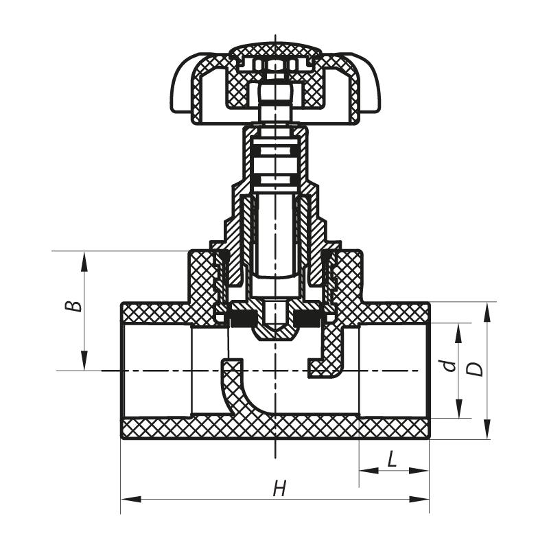 Кран вентильний 20 KOER PPR K0183.PRO (KP0237)