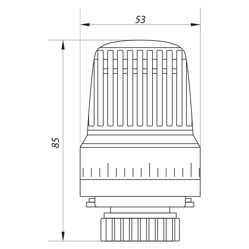 Термоголовка M30x1.5 KOER KR.1330 (KR2676)