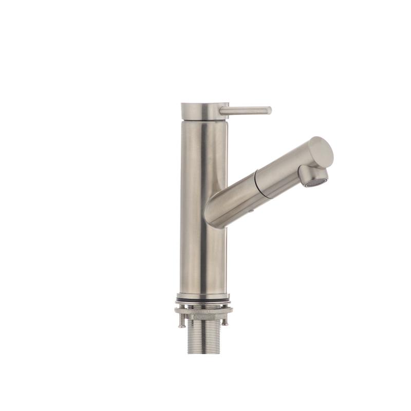 Змішувач для умивальника з висувною лійкою MIXXUS DAX-001 (SS0035) - 3