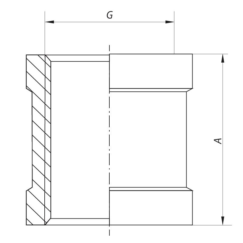 """Муфта 1-1/2"""" KOER KF.C16 (KF0014)"""