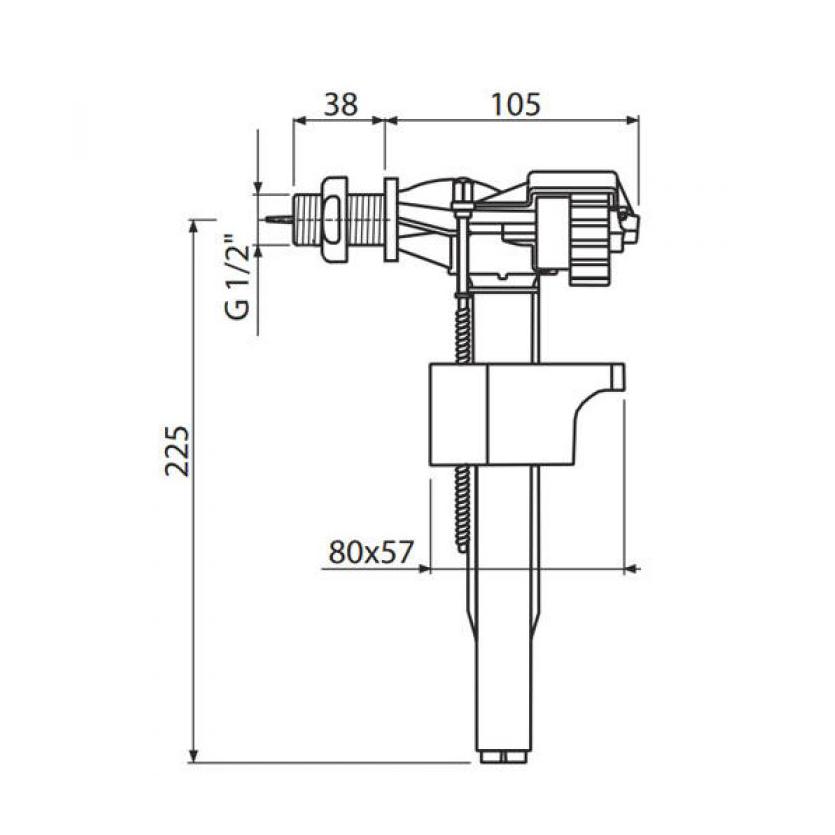 Впускной механизм ALCAPLAST A18-1/2