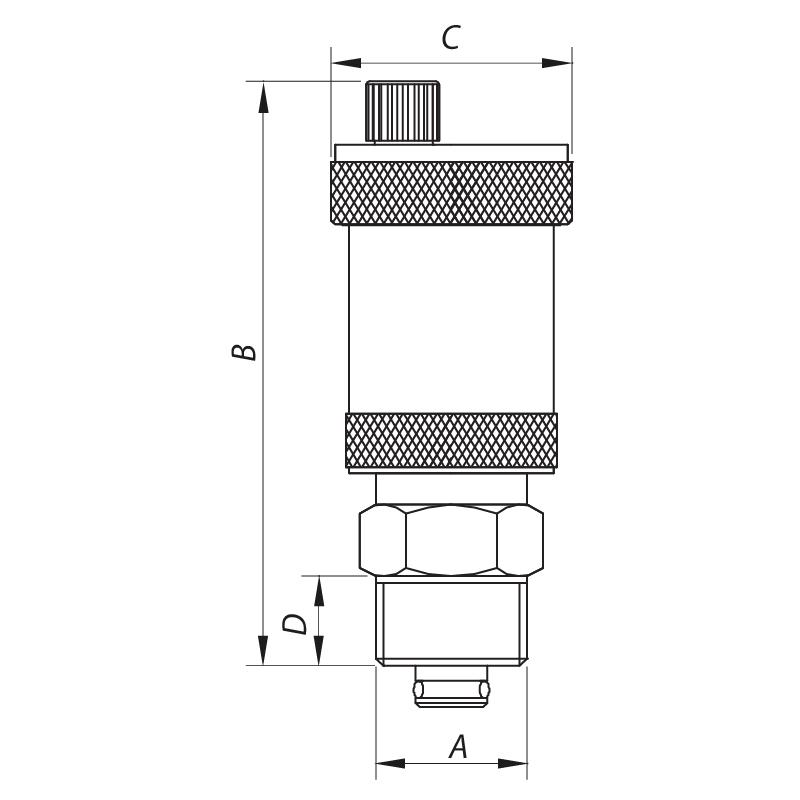 """Воздухоотводчик автоматический прямой с обратным клапаном 1/2"""" KOER KR.1254 (KR2667)"""