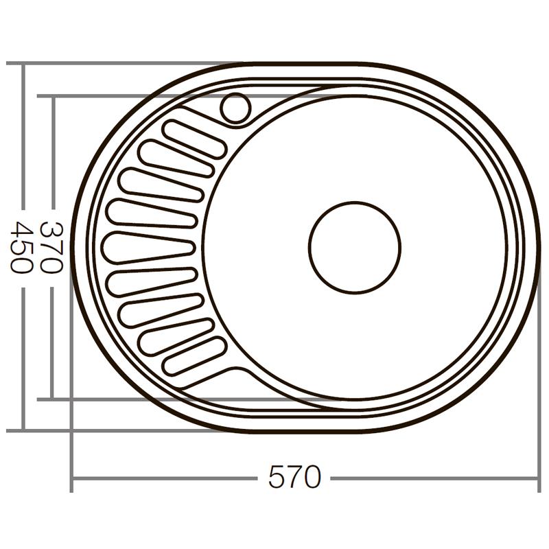 Мойка кухонная ZERIX Z5745-08-180D (decor) (ZX1593)