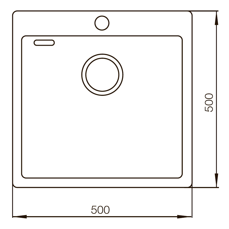 Мойка MIXXUS MX(304)5050-200x1.2-HANDMADE (MX0571)