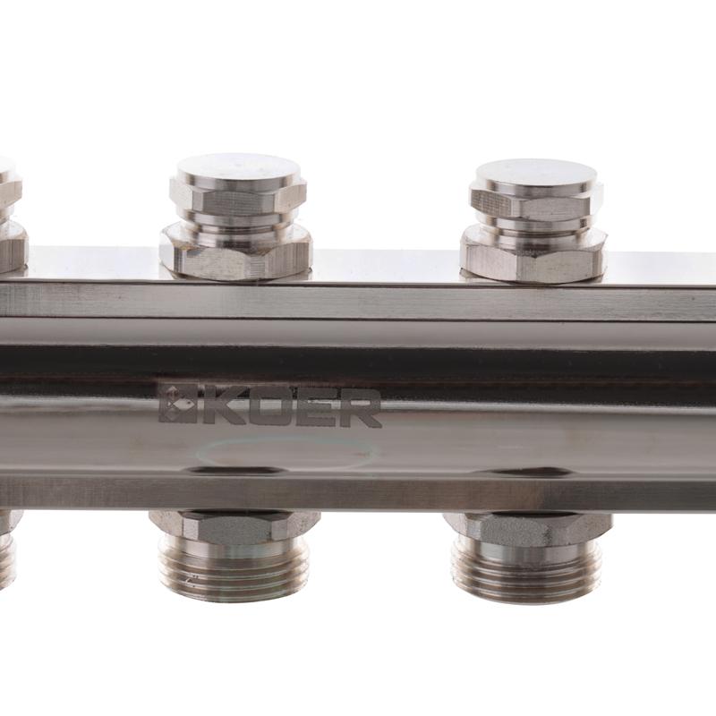 Колекторний блок з термостатичними клапанами KOER KR.1100-09 1