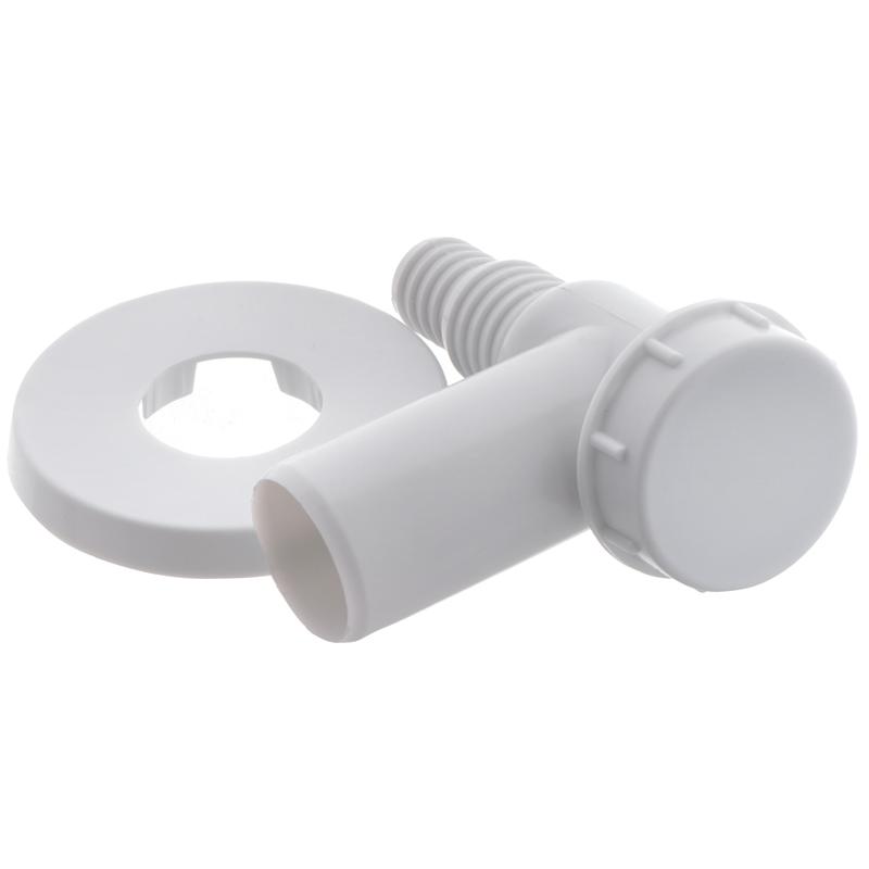 Сифон для пральної машинки ALCAPLAST APS2 (зовнішній білий) (AL0010)