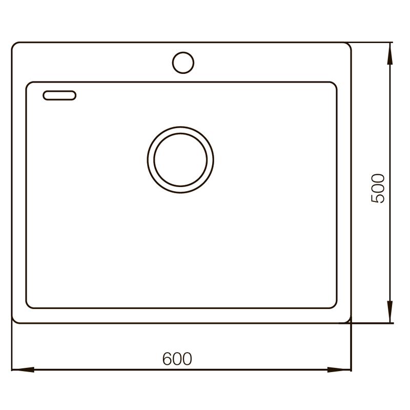 Мойка MIXXUS MX6050-200x1.2-HANDMADE (MX0569)