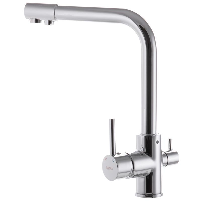 Смеситель для кухни ZERIX LR4055-3 с выходом для питьевой воды (ZX2723)