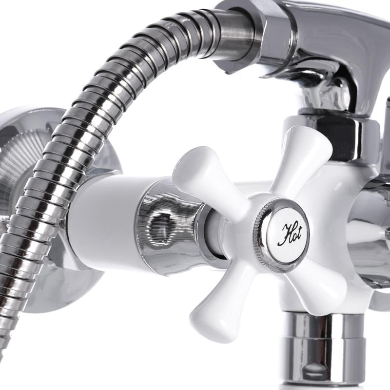 Смеситель для ванны MIXXUS OMEGA 140 WHITE (MI2768)