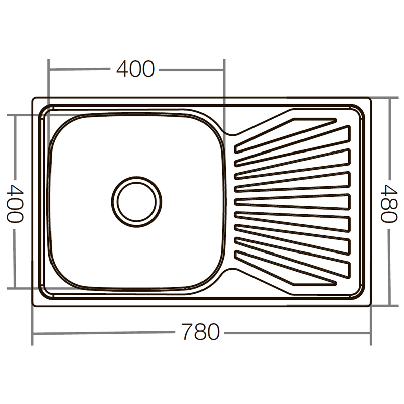 Мойка кухонная ZERIX Z7848-08-180D (decor) (ZX1605)
