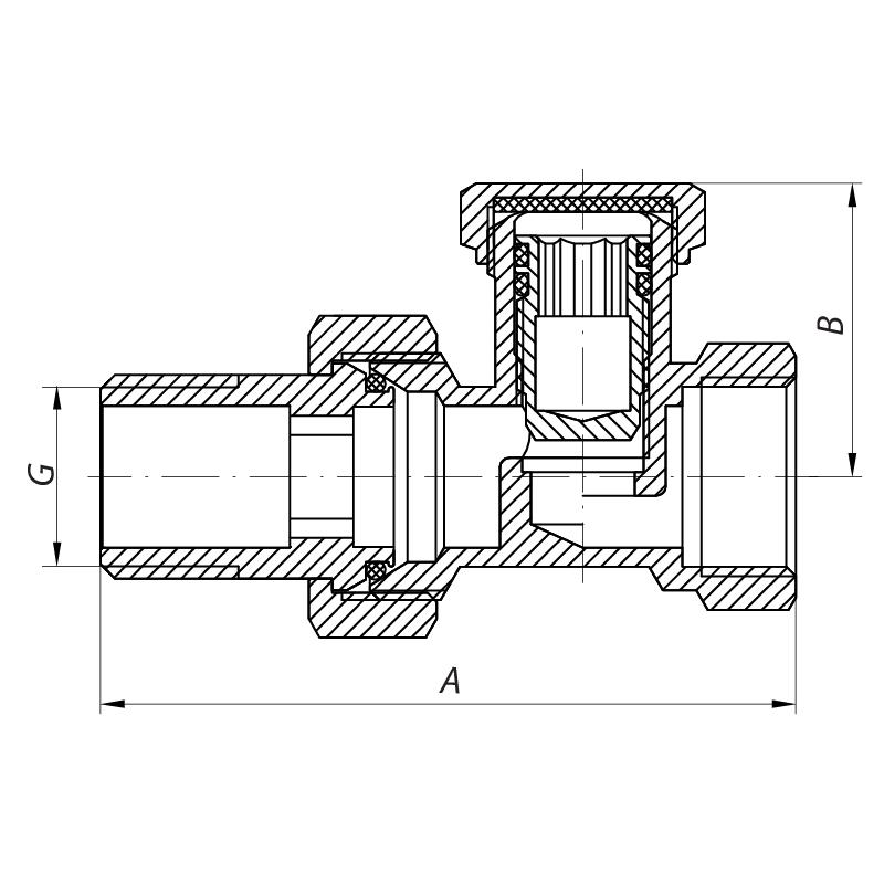 Вентиль 1/2x1/2 KOER KR.904 (KR0005)