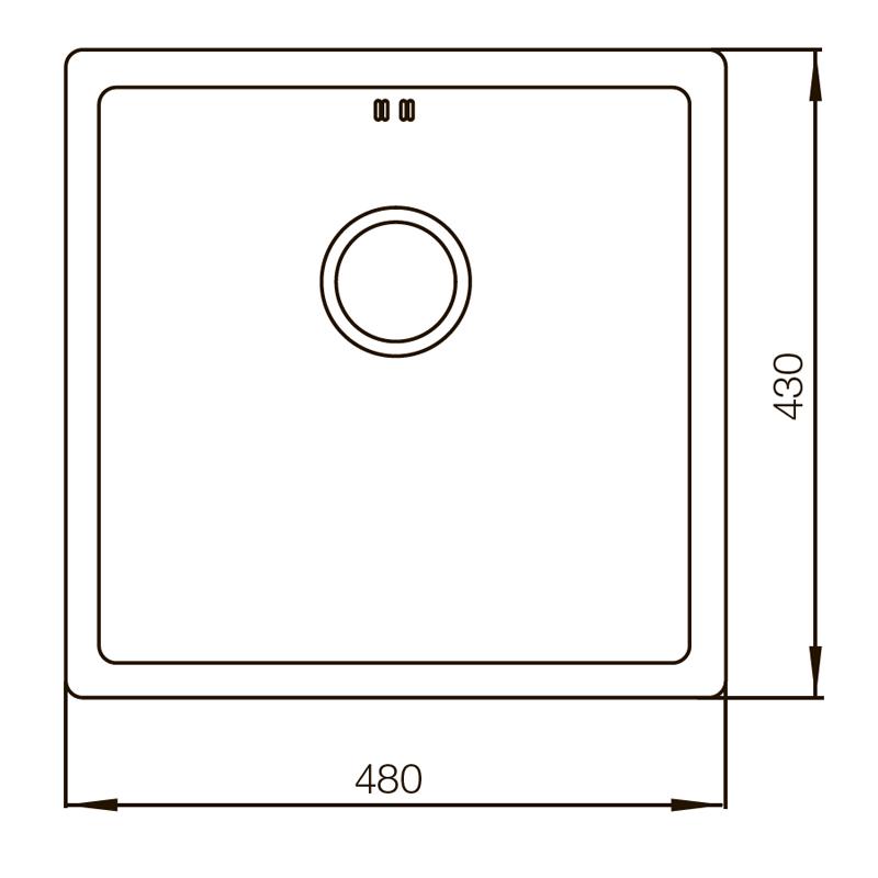 Мийка MIXXUS MX4843-220x1.0-PVD-GOLD (MX0559)