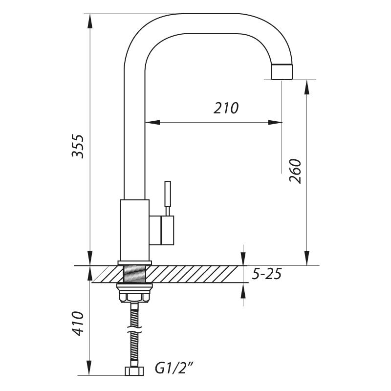 Смеситель для кухни ZERIX LR4998-4 (ZX0572)