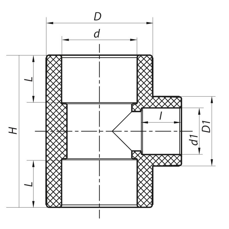 Трійник редукційний 50x40x50 PPR KOER K0050.PRO (KP0059)