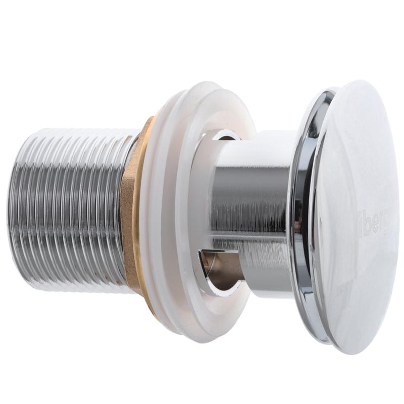 Донный клапан для умывальника с переливом (кнопка) IBERGRIF M20502 (IB0087)
