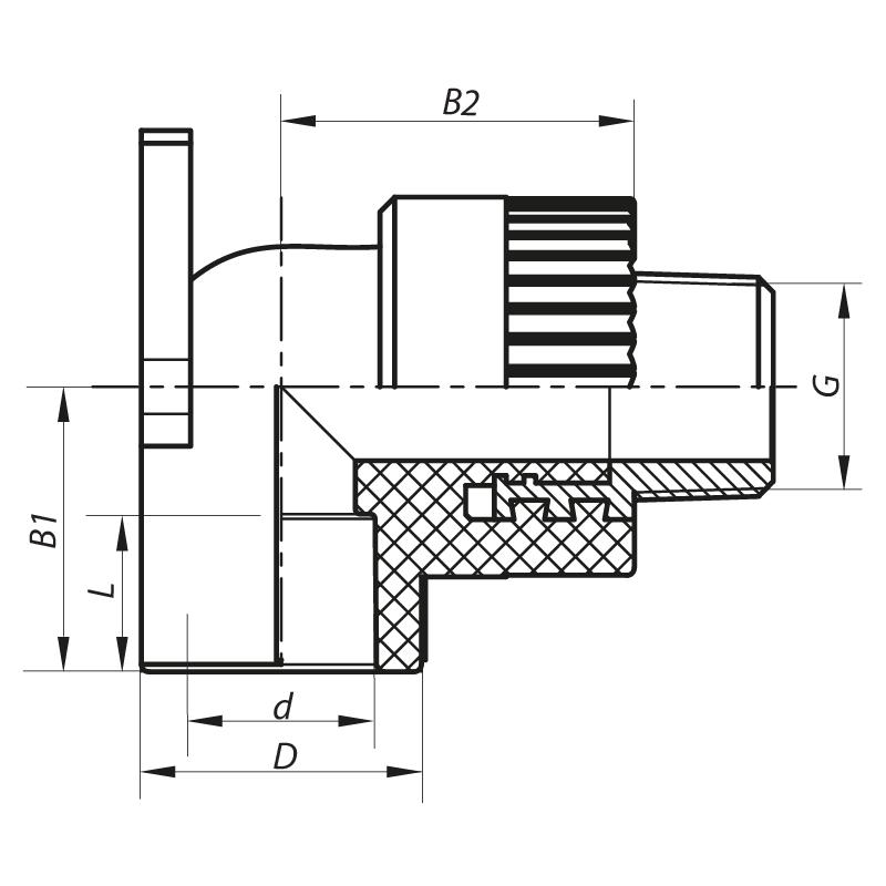 Угол установочный НР 25x3/4M PPR KOER K0126.PRO (KP0151)