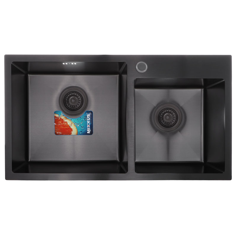 Набор MIXXUS SET-7843D-220x1.0-PVD (мойка+смеситель+диспенсер) (MX0585)