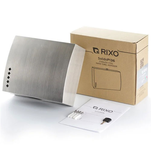 Диспенсер паперових рушників нержавіюча сталь Rixo Solido P136