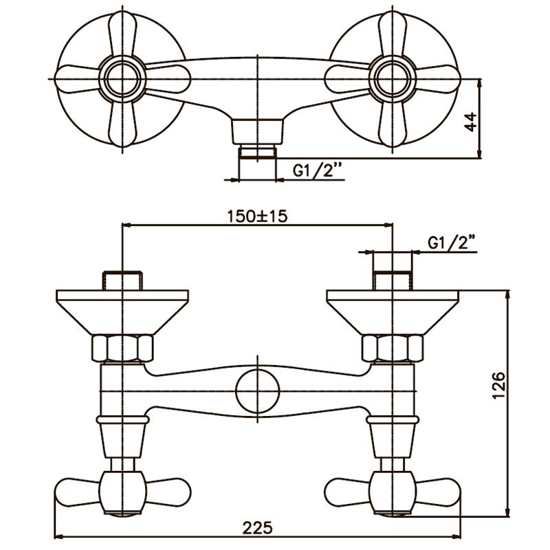 Змішувач для душа Haiba DOMINOX 003 (HB0060)