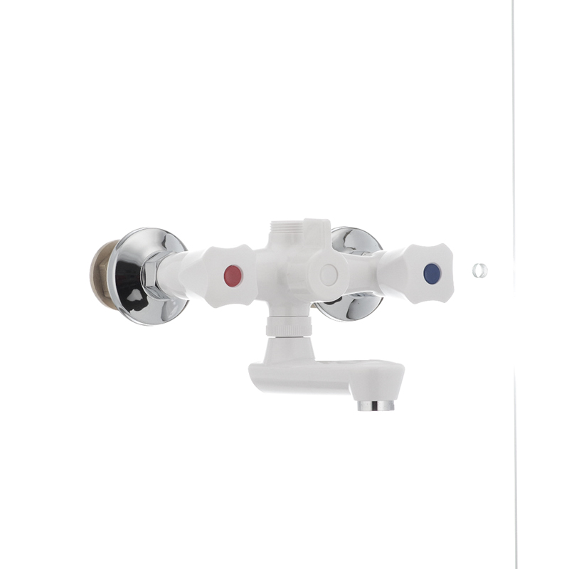 Смеситель для ванны PLAMIX Omega-142 белый (без шланга и лейки) (PM0021) - 1