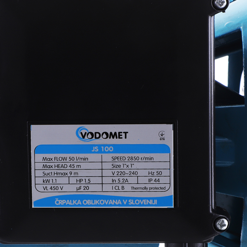 Насос поверхн. центробежный VODOMET JS100, корпус нерж. сталь (VO0020)