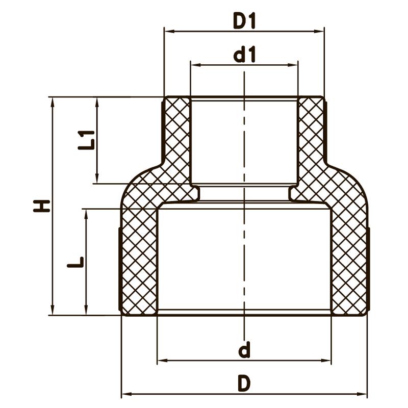 Муфта редукційна ВВ 50x40 PPR KOER K0038.PRO (KP0046)