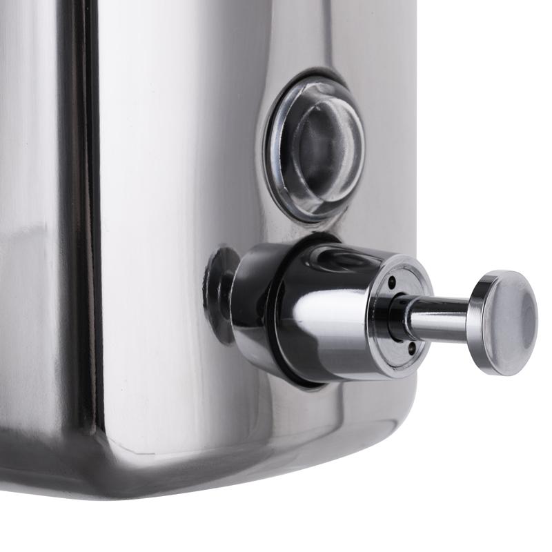 Дозатор для жидкого мыла ZERIX D-1000-SUS настенный (ZX3247)