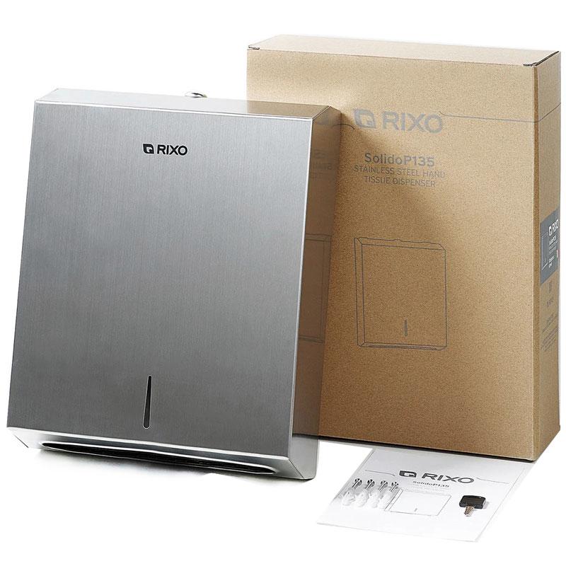 Диспенсер паперових рушників нержавіюча сталь Rixo Solido (P135)