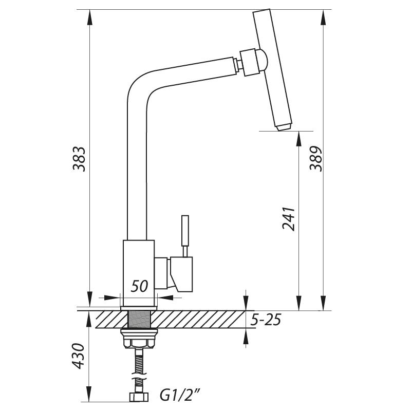 Смеситель для кухни ZERIX LR4998-5 с поворотным аэратором (LL1032)