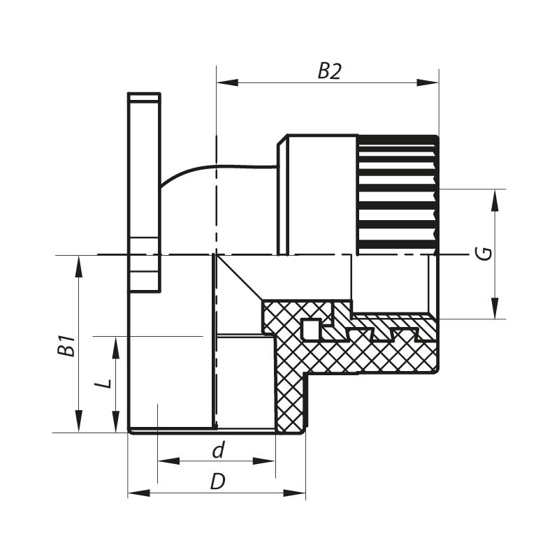 Угол установочный ВР 20x1/2F PPR KOER K0123.PRO (KP0147)