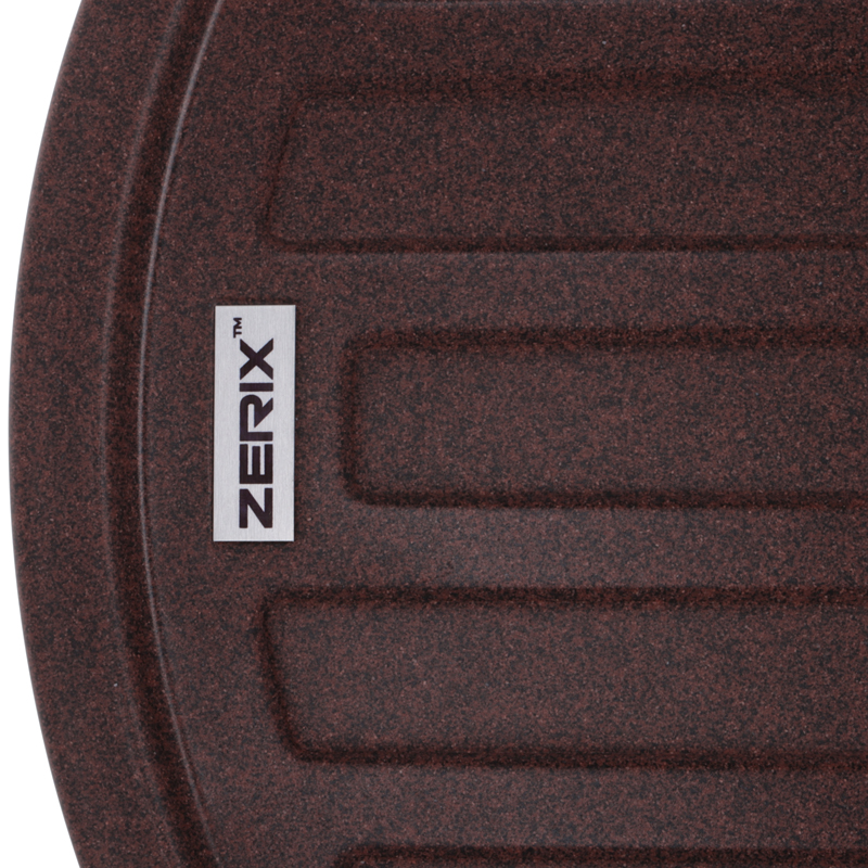 Мийка кухонна ZERIX ZS-7750R-12 Коричнева (ZX4560)
