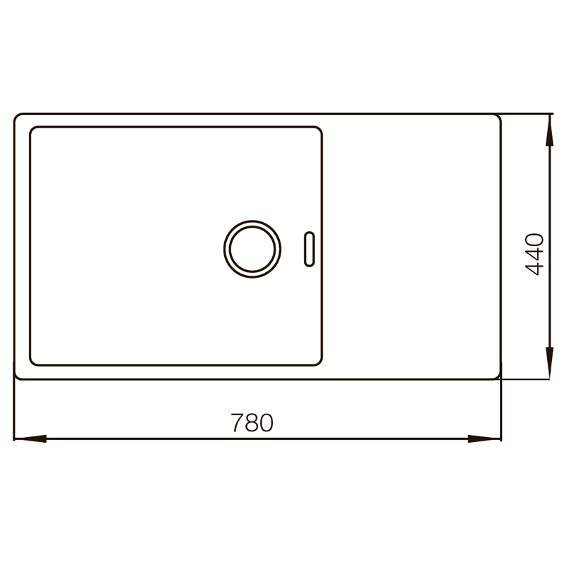 Мойка MIXXUS MX7844-200x1.2-PVD-BLACK (MX0561)