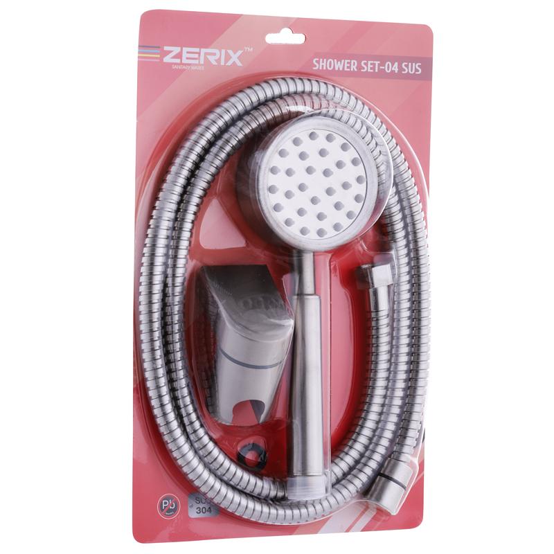 Душовий набір (шланг, лійка, кронштейн) ZERIX SHOWER SET-04 (ZX3099)