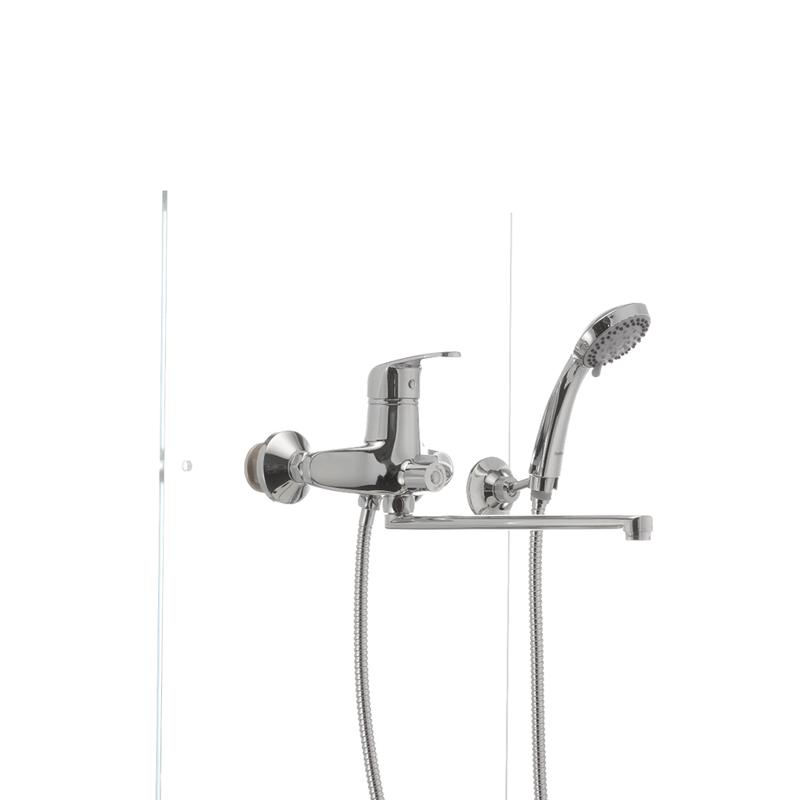 Смеситель для ванны Haiba MAGIC 006 с черной ручкой (HB0674) - 1