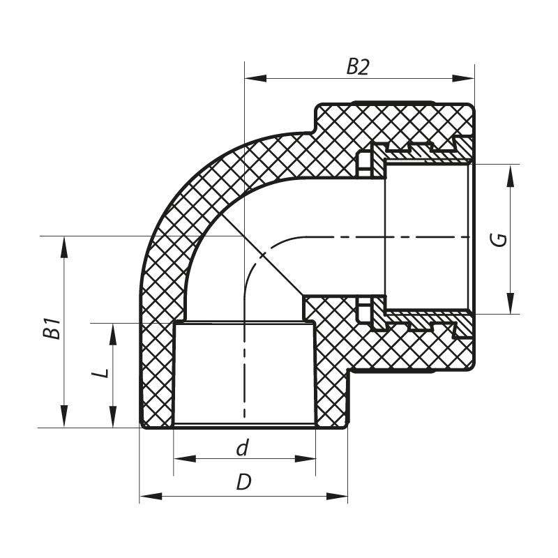 Угол ВР 25x3/4F PPR KOER K0115.PRO (KP0137)