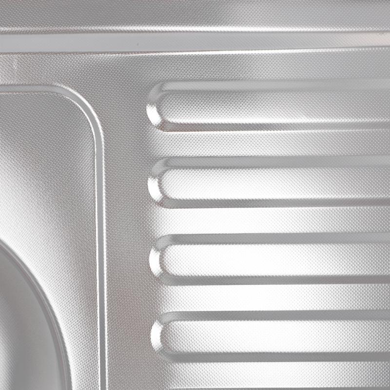 Мойка кухонная ZERIX Z8060L-06-160MD (MICRO DECOR) (ZS0603)