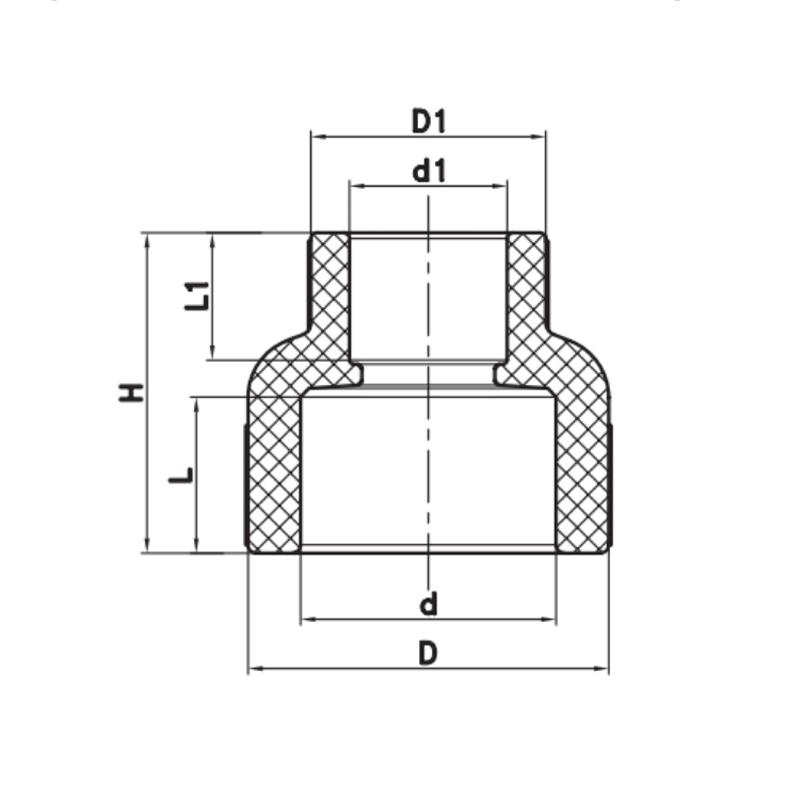 Муфта редукционная ВВ 110x63 PPR KOER K0216.PRO (KP2581)