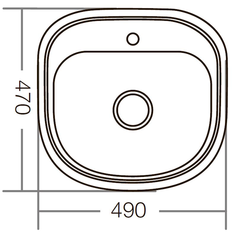Мойка кухонная ZERIX Z4947-08-180E (satin) (ZM0559)