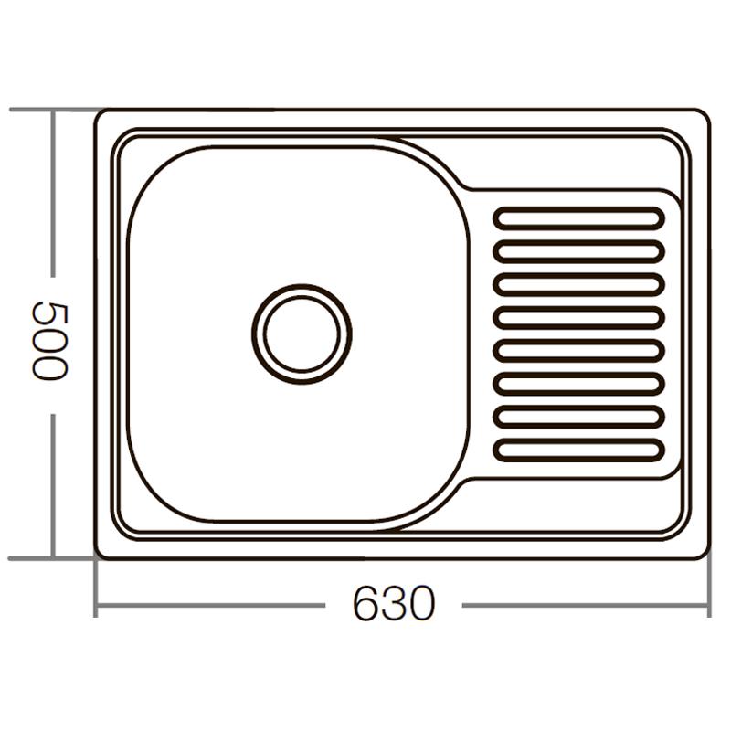 Мойка кухонная ZERIX Z6350-08-180E (satin) (ZM0563)