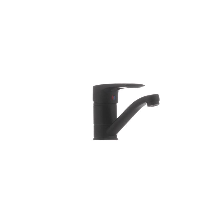 Смеситель для умывальника Haiba HANSBERG 004 (излив 15 см) черный (HB0185) - 2