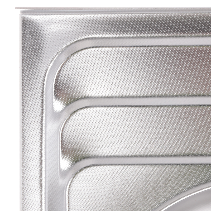 Мойка кухонная ZERIX Z8060B-08-180MD DOUBLE (micro decor) (ZS0611)