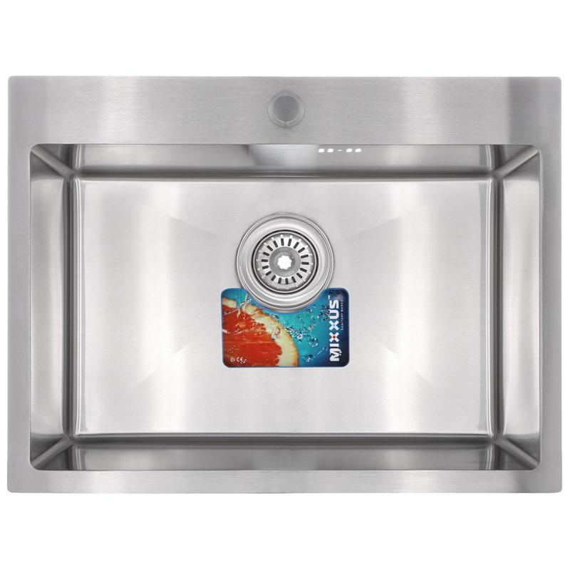 Набор MIXXUS SET-6045-200x1.0-SATIN (мойка+смеситель+диспенсер+сушка для посуды) (MX0584)