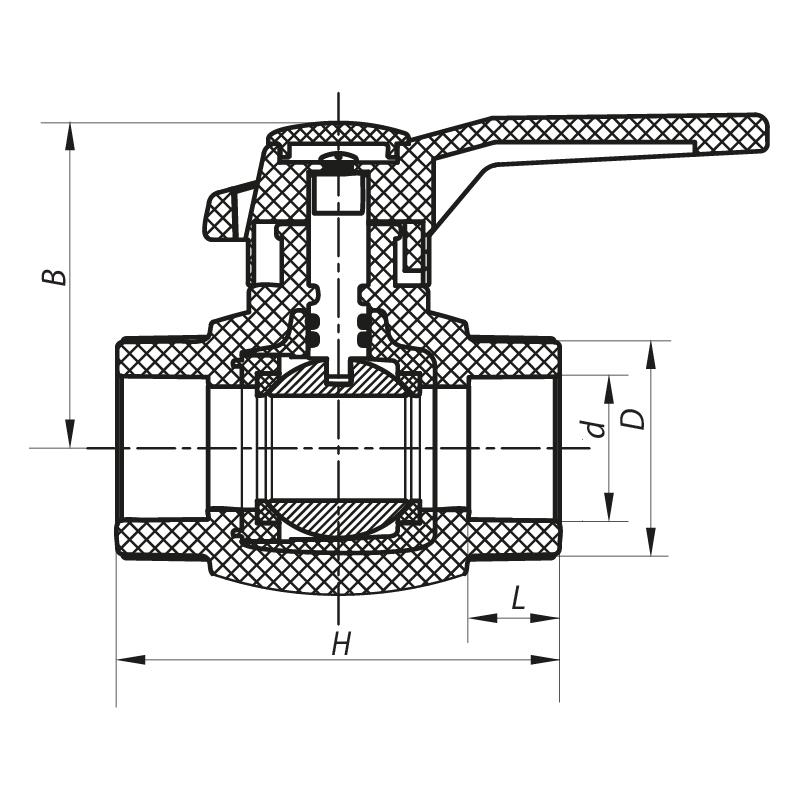 Кран кульовий PPR КШ (ручка) для гарячої води 32 (KOER K0177.PRO) (KP0229)
