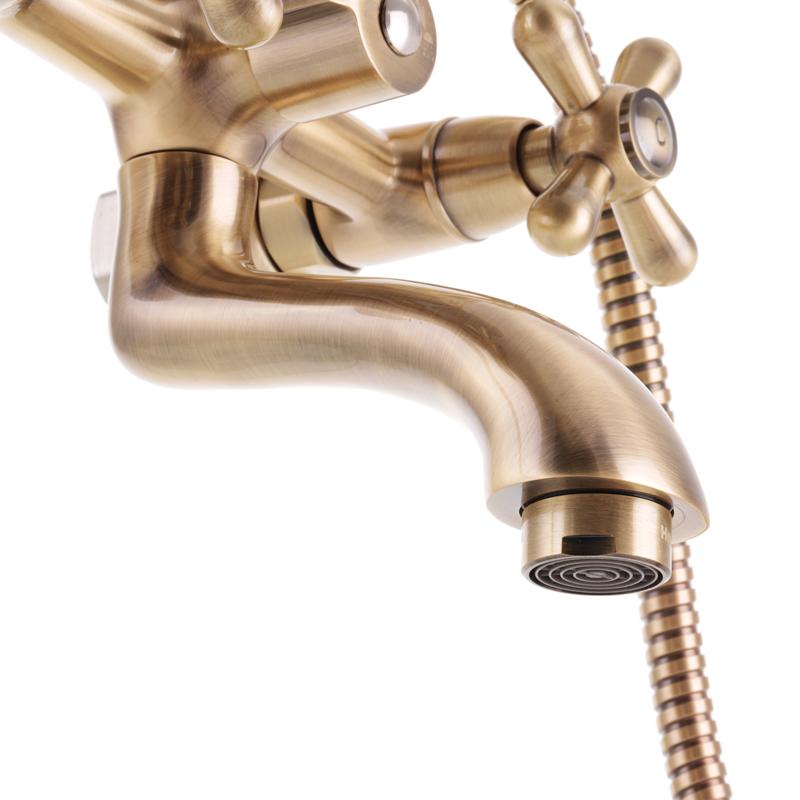 Змішувач для ванни HAIBA DOMINOX 142 EURO Бронзовий (HB3938)
