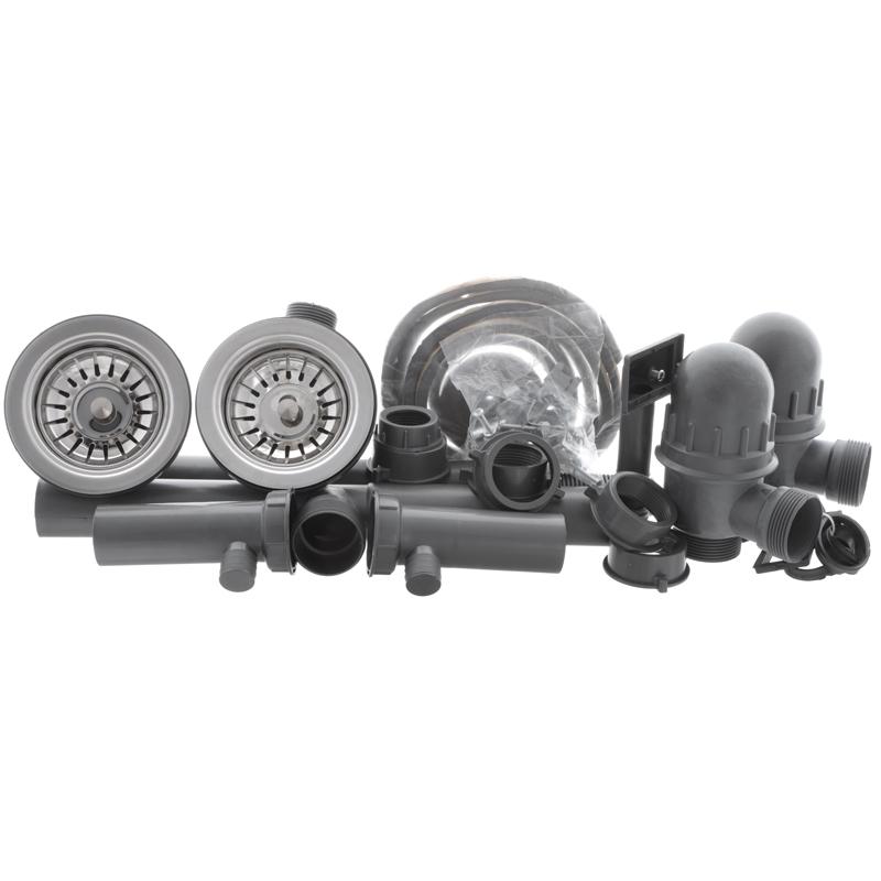 Мийка кухонна HAIBA 80x49 DOUBLE (satin) (HB0652)
