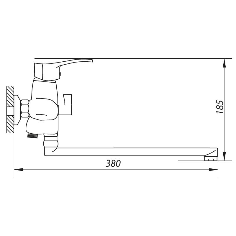 Змішувач для ванни ZERIX JXD6 279 (ZX2692)